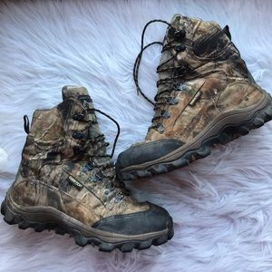 Rocky Thinsulate Camo Hiking Hunting Boots 8